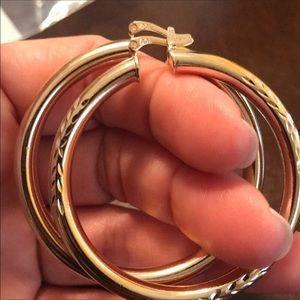 Jewelry - 18k Gold Filled Hoop Earrings